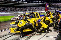 Townley's crew performs a pit stop at Las Vegas Motor Speedway in 2015