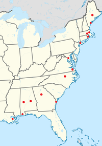 Rhoticity dominates in North American English. The Atlas of North American English found over 50% non-rhoticity, though, in at least one local white speaker in each U.S. metropolitan area designated here by a red dot. Non-rhotic African American Vernacular English pronunciations may be found among African Americans regardless of location.