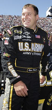 Ryan Newman finished 1 point behind Harvick in second place