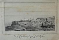 A view of Fort Ross in 1828 by A.B. Duhaut-Cilly
