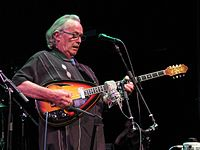 Ry Cooder playing the electric bouzouki while performing with Ricky Skaggs and Sharon White, McGlohon Theater, Charlotte, NC, August 19, 2015