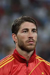 Ramos lining up for Spain against France at UEFA Euro 2012