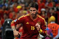 Ramos at the Euro 2012, in a quarter-final match against France.