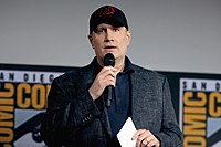 Kevin Feige announcing Phase Four titles at San Diego Comic-Con 2019