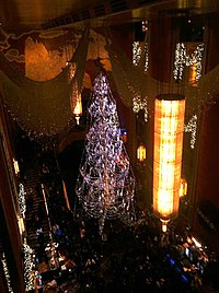 The Grand Foyer with Christmas decorations for the Christmas Spectacular