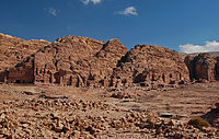 View of the Royal Tombs in Petra