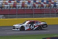 Fury 's No. 61 Ford at Charlotte, their debut in the NASCAR Xfinity Series.