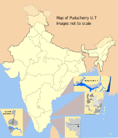 Map showing the districts of Puducherry