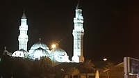 The Quba Mosque at night