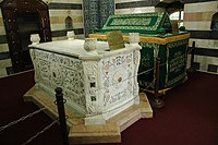 Tomb of Salahuddin al-Ayyubi, who started a tradition of greatly funding Medina and protecting pilgrims visiting the holy city.