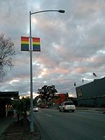 LGBT banners in Montrose