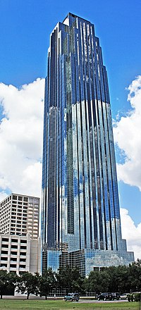 The Williams Tower is the tallest building in the US outside a central business district.