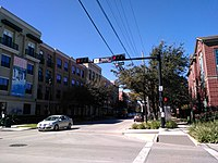 Intersection of Bagby and McGowen streets in western Midtown, 2016