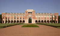 Rice University, located near the Museum District and Texas Medical Center, is the largest private research university in Houston.<ref>https://oir.rice.edu/rankings</ref>