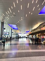 Newest part of Terminal C, used exclusively by United Airlines, at George Bush Intercontinental Airport