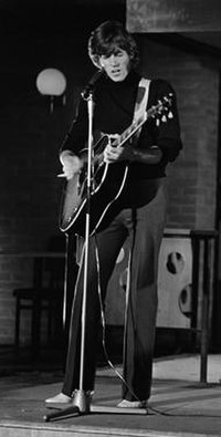 Gibb performing with the Bee Gees in 1968.