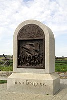 The Irish Brigade Monument on the Antietam Battlefield. The 29th was assigned to the Irish Brigade during the Peninsular Campaign and served in that unit through the Battle of Antietam.