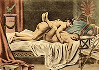 Sexual penetration occurring in the missionary position, depicted by Édouard-Henri Avril