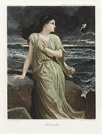 """""""Miranda"""" by Frederick Goodall, from the Graphic Gallery of Shakespeare's Heroines"""