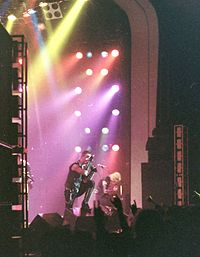 Judas Priest performing in 1981, during their World Wide Blitz Tour
