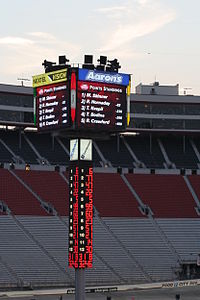 The old scoring pylon in August 2007