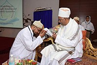 Paying respect by offering Salaam and performing Qadam-bosi to Saiyedna saheb