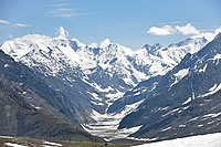 Tributary of Chandra, Lahaul and Spiti, from Rohtang Pass (elev. 3,980 m, 13,058 ft)