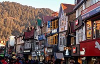 The Mall Road is the central business district of Shimla, Himachal Pradesh's capital city.