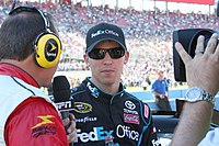 Denny Hamlin came in second behind Johnson by 39 points.