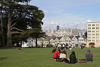 Alamo Square is one of the most well known parks in the area, and is often a symbol of San Francisco for its popular location for film and pop culture.