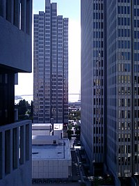 Skyscrapers are common in northeast San Francisco, the city's downtown.