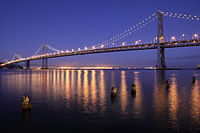 The Bay Bridge offers the only direct automobile connection to the East Bay.