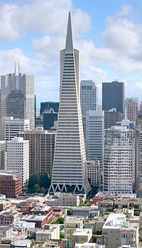 The Transamerica Pyramid was the tallest building in San Francisco until 2016, when Salesforce Tower surpassed it.