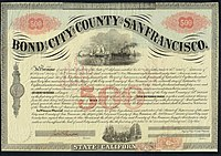 Bond of the City and County of San Francisco, issued October 1, 1863