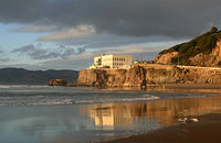 Ocean Beach, San Francisco with a view of the Cliff House