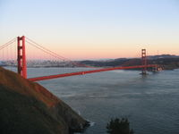 The Golden Gate Bridge is the only road connection to the North Bay.
