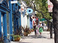 Boutiques along Fillmore Street in Pacific Heights