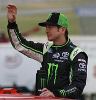 Kurt Busch was fined $50,000 and put on probation for a post-race crash with Ryan Newman on pit road.