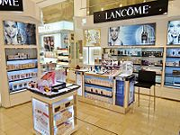 Lancôme counter at DFS Galleria Customhouse in Auckland, New Zealand