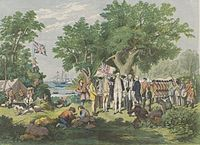 Captain James Cook claims the east coast of Australia for the Kingdom of Great Britain at Possession Island in 1770