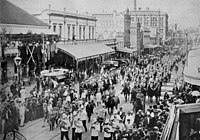 Parade of troops in Brisbane, prior to departure for the Boer War in South Africa.