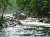 The Mossman River, flowing through the Daintree Rainforest in Far North Queensland