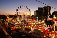 """""""Ekka"""", the Royal Queensland Exhibition, is held each August at the Brisbane Showgrounds."""