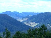 The McPherson Range at Lamington National Park in South East Queensland