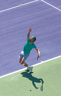 Nadal at the 2013 BNP Paribas Open
