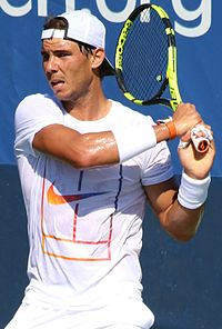 Nadal at the 2016 US Open
