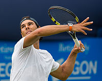 Nadal at the 2015 Aegon Championships in London