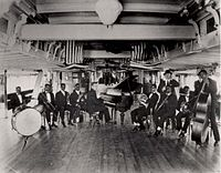 Armstrong was a member of Fate Marable's New Orlean's Band in 1918, here on board the S.S. Sidney