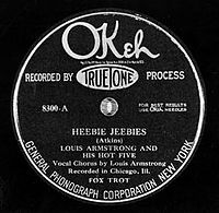 """""""Heebie Jeebies"""" by Louis Armstrong and his Hot Five"""