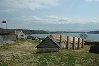 Reconstruction of Fort Loudon, the first British settlement in Tennessee